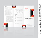business templates for tri fold ... | Shutterstock .eps vector #576765745