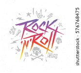 rock n roll music trendy retro... | Shutterstock .eps vector #576768475
