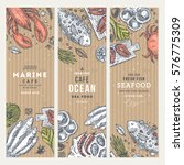 seafood banner template set.... | Shutterstock .eps vector #576775309