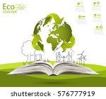 environmentally friendly world. ... | Shutterstock .eps vector #576777919