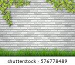grass and tree branches on... | Shutterstock .eps vector #576778489