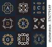 monogram logo template with...