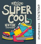 cool monster sneaker vector... | Shutterstock .eps vector #576787069