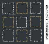 set hand drawn line border.... | Shutterstock .eps vector #576788905