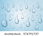 clear transparent water drops... | Shutterstock .eps vector #576791737