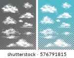 fog   smoke and cloud isolated... | Shutterstock .eps vector #576791815