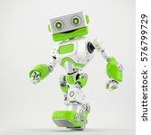 friendly walking retro robot... | Shutterstock . vector #576799729