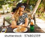 summer lifestyle portrait of...   Shutterstock . vector #576801559
