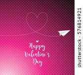 valentine's card with copy... | Shutterstock .eps vector #576814921