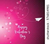 valentine's card with copy... | Shutterstock .eps vector #576814981