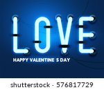 happy valentines day  dark blue ...   Shutterstock .eps vector #576817729