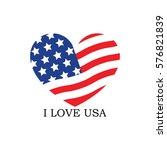 i love usa logo template   Shutterstock .eps vector #576821839