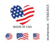 set of various made in the usa... | Shutterstock .eps vector #576823015