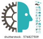 cyborg head pictograph with... | Shutterstock .eps vector #576827509