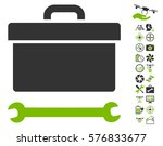 toolbox icon with bonus drone... | Shutterstock .eps vector #576833677