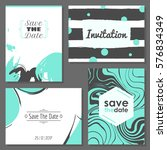 set of romantic abstract cards. ... | Shutterstock .eps vector #576834349