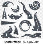 isolated grey color winding... | Shutterstock .eps vector #576837289