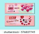 sale discount banner for... | Shutterstock .eps vector #576837745