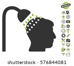 head shower icon with bonus...