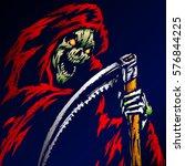 the grim reaper. scary horror...   Shutterstock .eps vector #576844225
