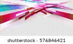 horizontal flow background in... | Shutterstock .eps vector #576846421
