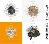 set of modern abstract hand... | Shutterstock .eps vector #576846625