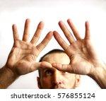 man showing hands | Shutterstock . vector #576855124