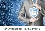 data protection and insurance.... | Shutterstock . vector #576859549