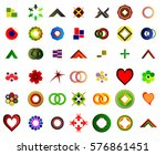 a set of 42 logos and icons... | Shutterstock . vector #576861451