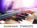 Pianist musician performing...