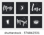 set of creative universal cards ... | Shutterstock .eps vector #576862531