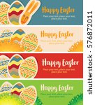 set vector greeting card with... | Shutterstock .eps vector #576872011