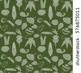 seamless pattern  doodle set ... | Shutterstock .eps vector #576875011