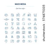 vector graphic set.icons in... | Shutterstock .eps vector #576875335