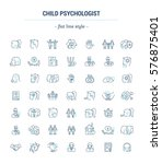 vector graphic set.icons in... | Shutterstock .eps vector #576875401