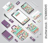 corporate identity stationery... | Shutterstock .eps vector #576880045