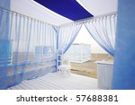 Beautiful White And Blue Tent...