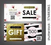 gift certificate  voucher ... | Shutterstock .eps vector #576883861