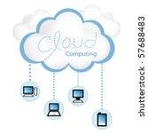 cloud computing concept. client ... | Shutterstock .eps vector #57688483