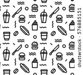 geometric vector fast food... | Shutterstock .eps vector #576885151