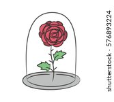 Rose In A Flask Of Glass. On...