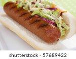 A Plump Beef Hot Dog On A Bun...