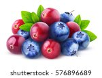 isolated berries. pile of fresh ... | Shutterstock . vector #576896689