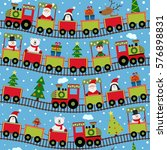 seamless pattern train with... | Shutterstock .eps vector #576898831