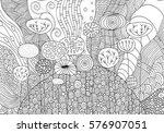 black and white fantasy picture ... | Shutterstock .eps vector #576907051