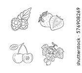 collection set of hand drawn...   Shutterstock .eps vector #576908269