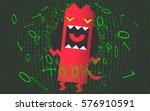 computer virus  trojan  malware ... | Shutterstock .eps vector #576910591