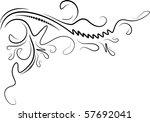 decorative corner. | Shutterstock .eps vector #57692041