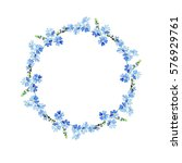 forget me not watercolor... | Shutterstock . vector #576929761