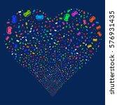car fireworks with heart shape. ...   Shutterstock . vector #576931435